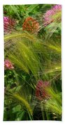 Wild Grasses And Red Clover Bath Towel
