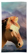 Wild Horse - Painting Bath Towel