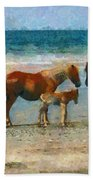 Wild Horses Of The Outer Banks Bath Towel