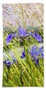 Wild Irises Bath Towel
