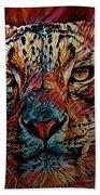 Wild Leopard Bath Towel