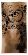 Wild Owl Eyes Bath Towel