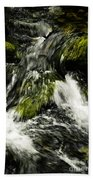 Wild Stream Of Green Moss Bath Towel
