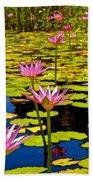 Wild Water Lilies 3 Bath Towel