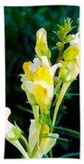 Wild Yellow Flowers Bath Towel
