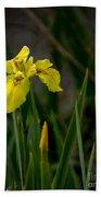 Wild Yellow Iris Bath Towel