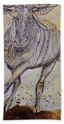 Wildebeest Bath Towel