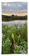 Wildflowers Adorn Nippersink Creek In Glacial Park Bath Towel