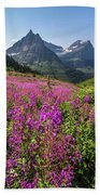 Wildflowers And A Glacier Hand Towel