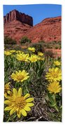 Wildflowers And Butte Bath Towel