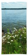 Wildflowers By The Lake  Bath Towel