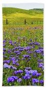 Wildflowers Carrizo Plain National Monument Bath Towel