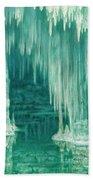 William Degouve De Nuncques 1867 - 1935 Belgian La Grotte Du Drac, Manacor Bath Towel