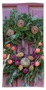 Williamsburg Wreath 92 Bath Towel