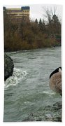 Willie Willey Rock - Riverfront Park - Spokane Bath Towel