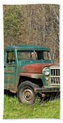 Willys Jeep Pickup Truck Bath Towel