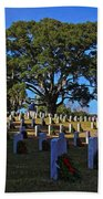 Wilmington National Cemetery Christmas Bath Towel