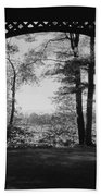 Wilson Pond Framed In Black And White Bath Towel