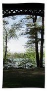 Wilson Pond Framed Bath Towel