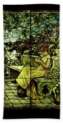Window - Lady In Garden Bath Towel