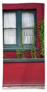 Window And Vines Bath Towel