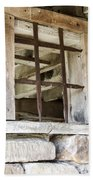 Window In The Amana Farmer's Market Barn Amana Ia Bath Towel