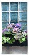 Window Shutters And Flowers Vi Hand Towel