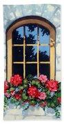 Window With Flower Box Bath Towel