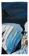 Windsurfing And Sea Turtle Bath Towel
