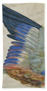 Wing Of A Blue Roller Bath Towel