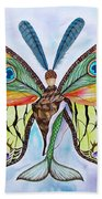 Winged Metamorphosis Bath Towel