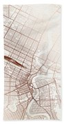 Winnipeg Street Map Colorful Copper Modern Minimalist Bath Towel