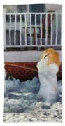 Winter - Christmas - Brother And Sister  Bath Towel