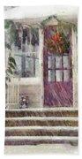 Winter - Christmas - Silent Day  Bath Towel