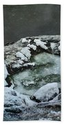 Winter Abstract Bath Towel