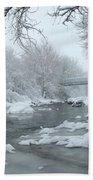 Winter Along Clear Creek Bath Towel