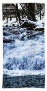Winter At Mill Creek Falls No. 1 Bath Towel