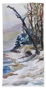 Winter At The Baltic Sea  Hand Towel