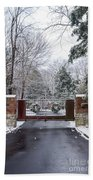 Winter At The Gate Bath Towel