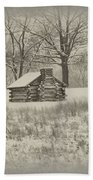 Winter At Valley Forge Bath Towel