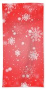 Winter Background With Snowflakes. Bath Towel