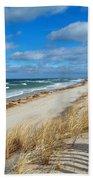 Winter Beach View Bath Towel