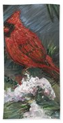 Winter Cardinal Bath Towel