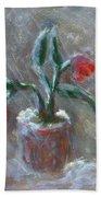 Winter Flowers Bath Towel