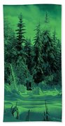Winter Forest Dream At Dusk Bath Towel