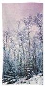 Winter Forest Hand Towel by Priska Wettstein