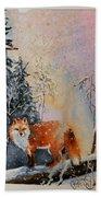 Winter Fox Bath Towel
