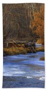 Winter Gold On The Yakima River Bath Towel
