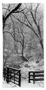 Winter, Ham Burn, Whitley Mill Bath Towel