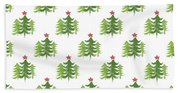 Winter Holiday Trees 2- Art By Linda Woods Hand Towel